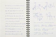Mathenotizbuch Lizenzfreies Stockfoto