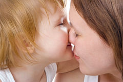 Mather and baby Royalty Free Stock Images