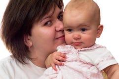 Mather com sua filha pequena Foto de Stock
