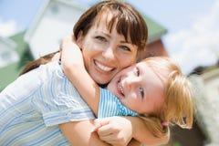 Mather en daughterMather en meisje Stock Foto's
