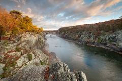 Mather Gorge Potomac River Great Falls National Park Royalty Free Stock Photos