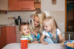 Mather with kids Royalty Free Stock Images