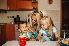 Mather with kids Royalty Free Stock Photos