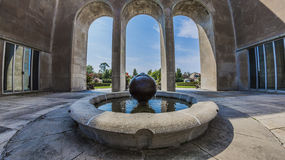Mather Park Fountain. Mather Memorial Park fountain in summer Stock Photography