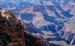 Mather Point in Grand Canyon, Zuidenrand Stock Fotografie