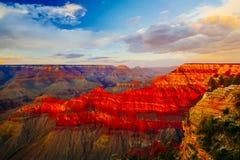 Mather Point, punto di vista, parco nazionale di Grand Canyon, Arizona, U Fotografia Stock