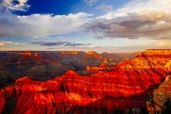 Mather Point, punto di vista, parco nazionale di Grand Canyon, Arizona, U Fotografie Stock Libere da Diritti