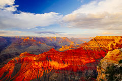 Mather Point, punto di vista, parco nazionale di Grand Canyon, Arizona, U Immagine Stock