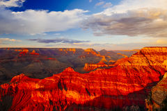 Mather Point, punto di vista, parco nazionale di Grand Canyon, Arizona, U Fotografia Stock