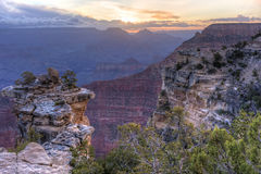 Mather Point Purple Dawn Stock Photo