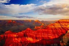 Mather Point siktspunkt, Grand Canyon nationalpark, Arizona, U Arkivfoto