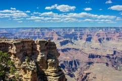 Mather punkt w Uroczystego jaru parku narodowym, Arizona Obrazy Stock