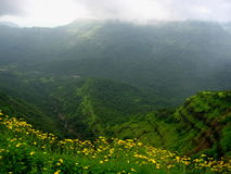 Matheran landscape in monsoon Royalty Free Stock Image
