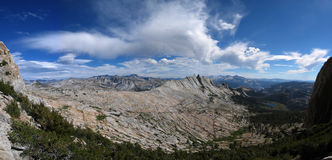 Mathes crest. Mirrored in the clouds in the Tuolumne meadows back country Stock Images