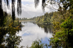 Matheson lake, New Zealand Stock Image