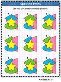 Mathespiel mit grundlegenden Formen - Oval, Stern, Halbrund, Raute oder Diamant lizenzfreie abbildung
