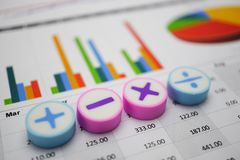 Mathesymbole Diagramm-Zeichenpapier mit Maßeinteilung Finanzentwicklung, Bankkonto, Statistiken, Forschungs-Datenwirtschaft der I lizenzfreie stockfotos