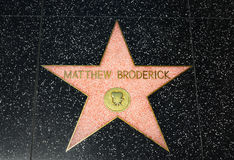 Mathew Broderick Star on the Hollywood Walk of Fame Stock Photo