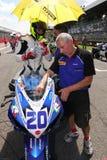 Mathew Scholtz #20 auf Suzuki GSX-R 600 NS Suriano Corse Supersport WSS Lizenzfreie Stockfotos