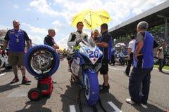 Mathew Scholtz #20 auf Suzuki GSX-R 600 NS Suriano Corse Supersport WSS Lizenzfreie Stockbilder