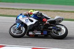 Mathew Scholtz #20 en Suzuki GSX-R 600 NS Suriano Corse Supersport WSS Foto de archivo