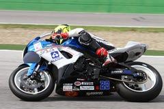 Mathew Scholtz #20 su Suzuki GSX-R 600 NS Suriano Corse Supersport WSS Fotografie Stock