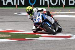 Mathew Scholtz #20 su Suzuki GSX-R 600 NS Suriano Corse Supersport WSS Immagini Stock