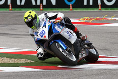 Mathew Scholtz #20 on Suzuki GSX-R 600 NS Suriano Corse Supersport WSS Royalty Free Stock Image