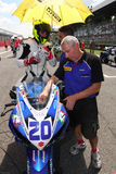 Mathew Scholtz #20 on Suzuki GSX-R 600 NS Suriano Corse Supersport WSS Royalty Free Stock Photos