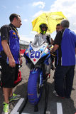 Mathew Scholtz #20 on Suzuki GSX-R 600 NS Suriano Corse Supersport WSS Royalty Free Stock Photo