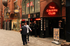 Mathew street. The Cavern Club. Liverpool. England Stock Photography