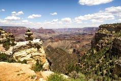 Mathew View Point - Grand Canyon, södra kant, Arizona, AZ royaltyfri fotografi