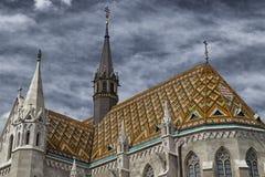 Mathias教会在布达佩斯 免版税库存照片