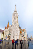 Mathias Church na het regenen in Boedapest, Hongarije Royalty-vrije Stock Afbeelding