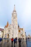 Mathias Church, når att ha regnat i Budapest, Ungern Royaltyfri Bild