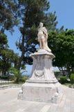 Mathias Von Dera Schollenburg statua w Corfu miasteczku Obrazy Royalty Free