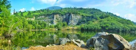 Mathienlanh jezioro Zdjęcia Stock