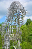 By Mathieu Isabelle new statue in Bromont. BROMONT QUEBEC CANADA 06 21 17:  By Mathieu Isabelle new statue in Bromont. The home of the Parc equestre Olympique de Stock Photography