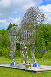 By Mathieu Isabelle new statue in Bromont. BROMONT QUEBEC CANADA 06 21 17:  By Mathieu Isabelle new statue in Bromont. The home of the Parc equestre Olympique de Stock Photos