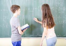 Mathématiques d'école Images libres de droits