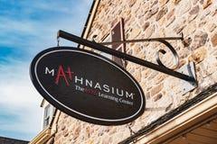 Mathnasium es un negocio de la licencia de las clases particulares de la matemáticas fotografía de archivo libre de regalías