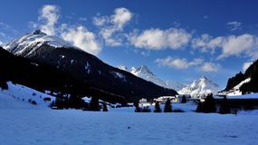Mathon, montañas de Silvretta, el Tirol, Austria foto de archivo libre de regalías