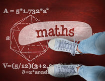 Maths against desk Royalty Free Stock Images