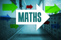 Maths against empty hallway Stock Images