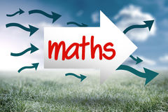Maths against sunny landscape Royalty Free Stock Photography