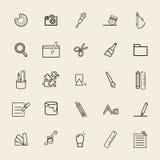 Maths Art Study Concept d'illustration du vecteur UI illustration stock