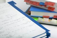 Maths avancées et livre Images libres de droits