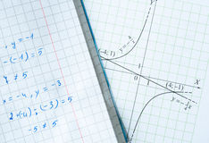 Maths background Stock Photography