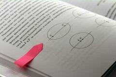 Maths book with a sticker label Stock Photos