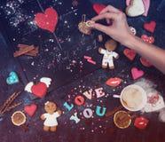 Maths, coeurs, formule de l'amour Photographie stock libre de droits